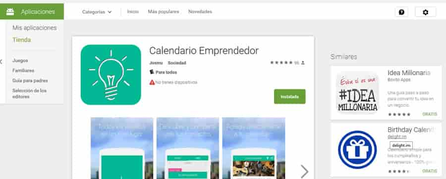 Calendario Emprendedor  para tu celular 1