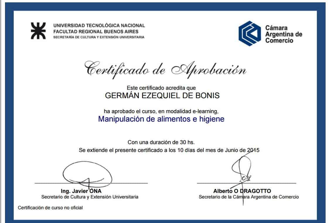 Certificaciones 6