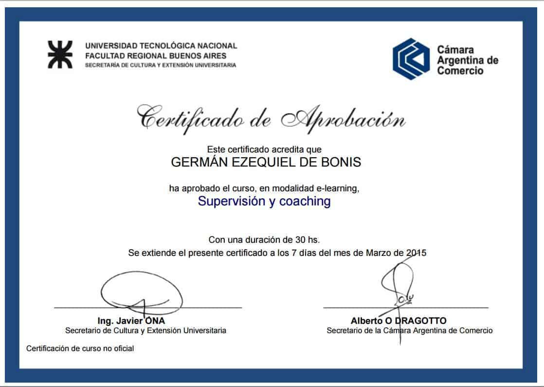 Certificaciones 10