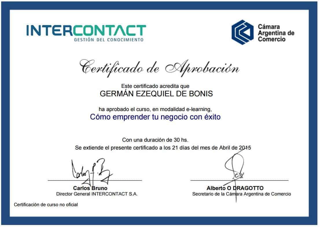 Certificaciones 7