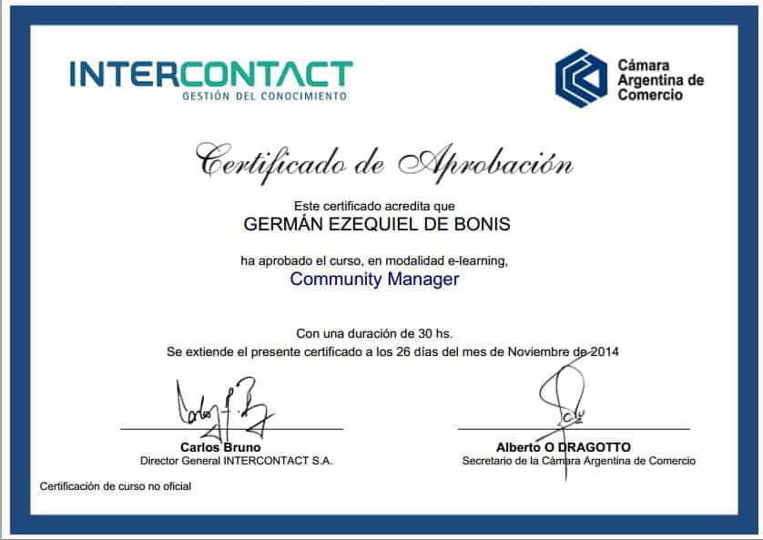 Certificaciones 12
