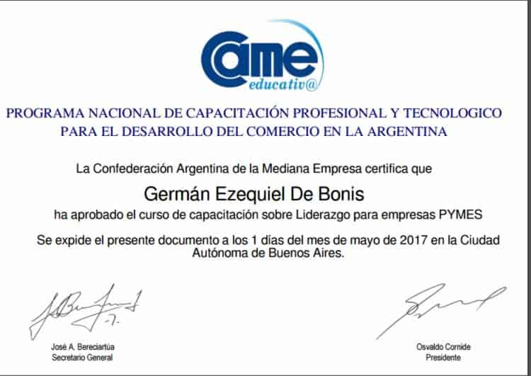 Certificaciones 21