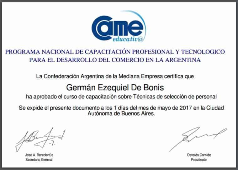 Certificaciones 22