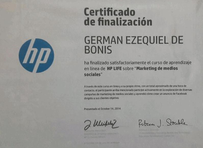 Certificaciones 18