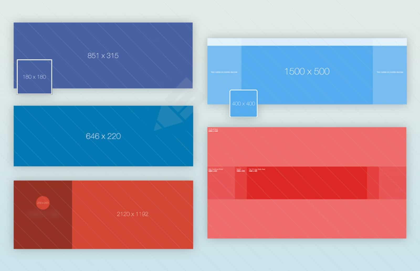 tamaños de imágenes en redes sociales