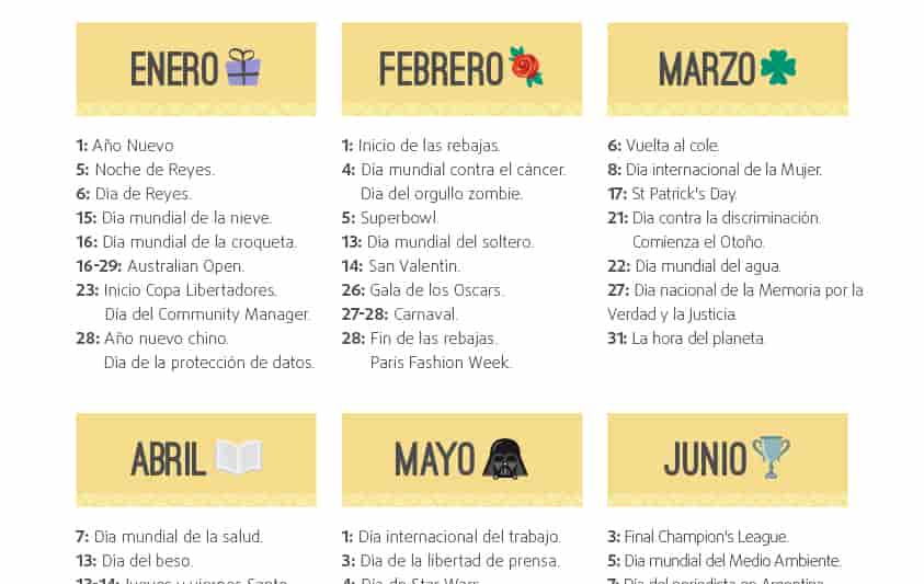 Calendario de Marketing 2017