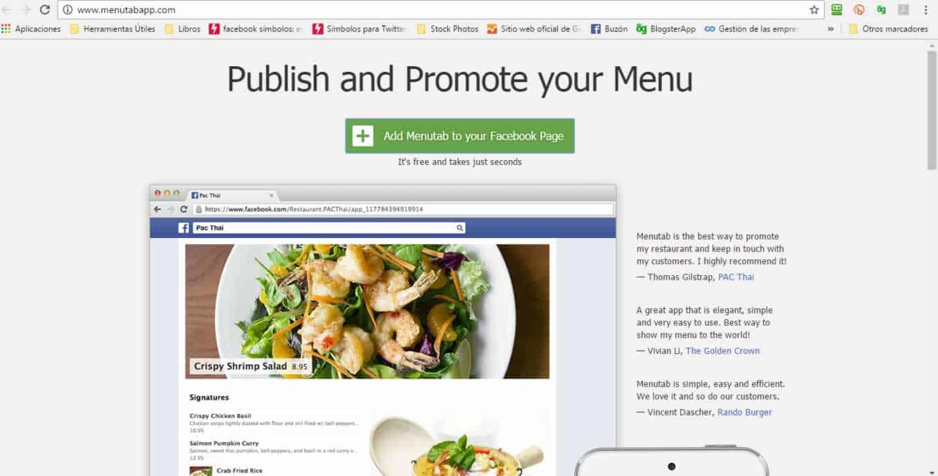 ¿Cómo mostrar el Menú de tu restaurante en Facebook? (Actualizado 09-2018) 1