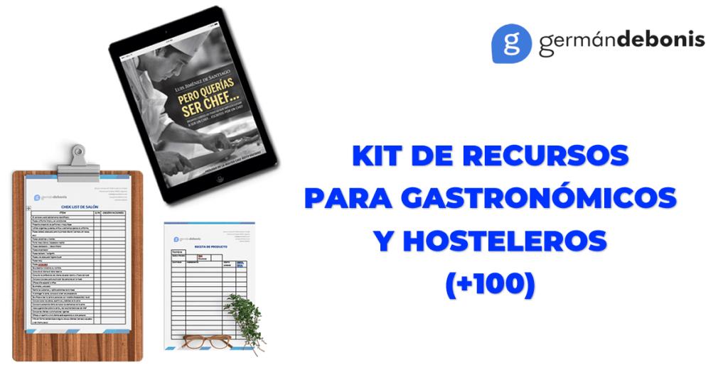 Kit de recursos par gastronómicos y hosteleros