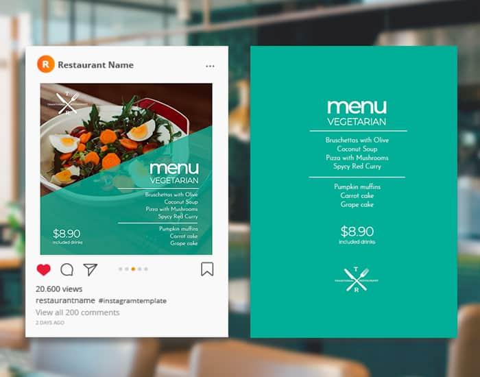 Diseños para redes sociales gastronómicas con unos clicks