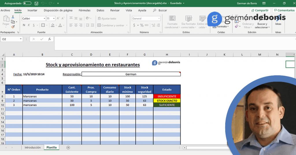 Planilla Stock y Aprovisionamiento [DESCARGA] 1