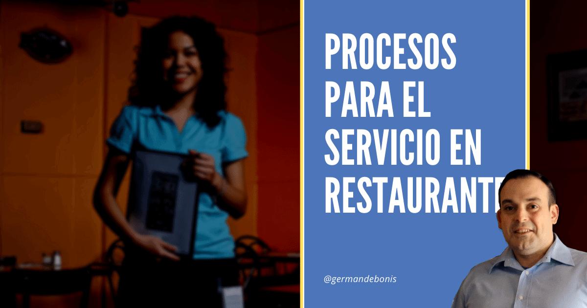 procesos para el servicio en restaurantes