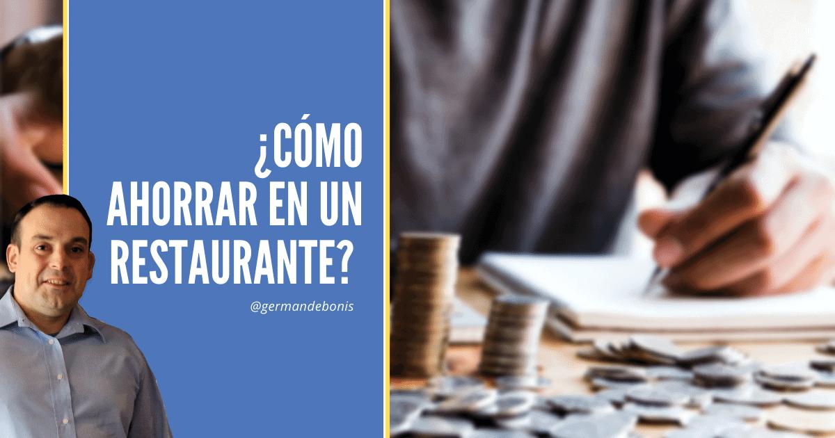 Cómo ahorrar en un restaurante